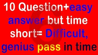 Real IQ Test Question and Answer - How Smart Your IQ - Intelligence Test (10 question) part 6