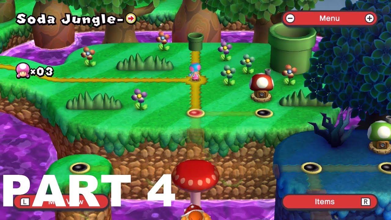 New Super Mario Bros U Deluxe Walkthrough Gameplay Part 4 Soda