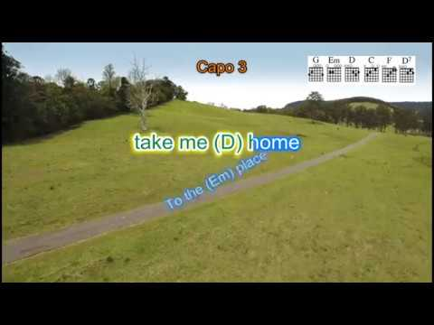 Take Me Home Country Roads Instrumental Guitar Backing Track With