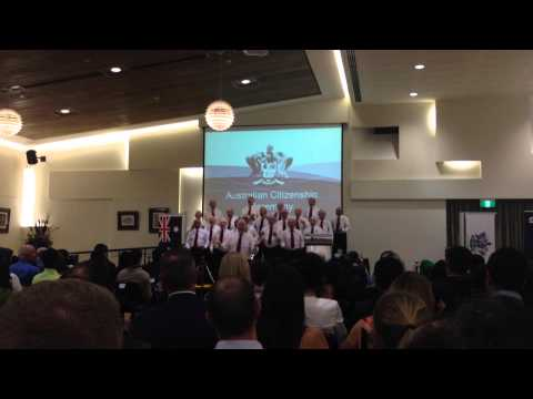 Citizenship ceremony in Perth, Australia