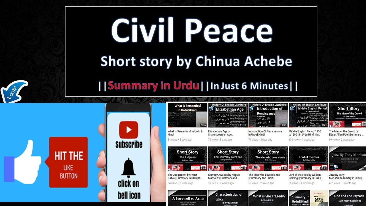 civil peace by chinua achebe story