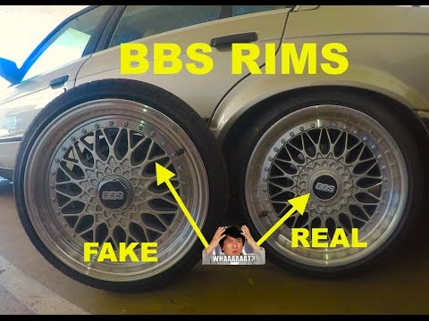 bbs wheels fake vs real review comparison youtube. Black Bedroom Furniture Sets. Home Design Ideas