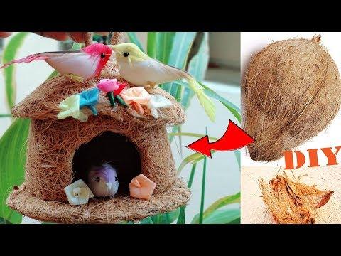 चिडिय़ा का घोसला | Bird Nest Wall Hanging | Bird Nest Making | DIY Best out of waste | Coconut Fiber