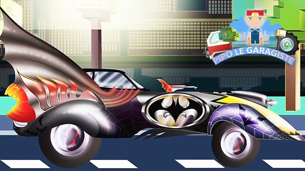 Sp cial halloween batmobile pipo et sa d panneuse - Course de voiture dessin anime ...