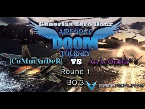 "C&C Generals: Zero Hour ""Air Force Tournament"" -|CoMmAnDeR|- vs AnAcOnDa^ [ROUND 1] BO3"
