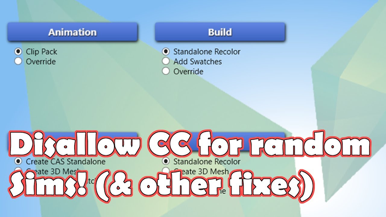 Disable CC for Random Sims! || Sims 4 ~ Tutorials
