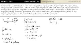 [Zad 97] Typowe zadanie maturalne za 5 pkt - technika rozwiązywania
