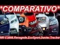 *COMPARATIVO* Tracker vs EcoSport vs Honda HR-V vs Jeep Renegade vs Peugeot 2008 vs Renault Duster