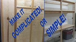 How to make sturdy 2x4 garage shelves easy or complicated!