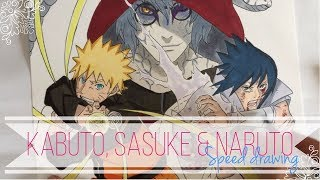 Speed Drawing - Kabuto, Sasuke & Naruto | Naruto Shippuden