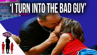 Dad Grabs Young Daughter By The Face In Argument |  Supernanny