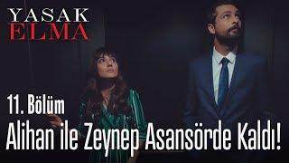 Alihan ile Zeynep asansörde kaldı! - Yasak Elma 11. Bölüm