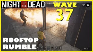 A Butcher reached the Rooftop! Night of the Dead Gameplay | Horde Night Wave 37 |Tower Defense Traps