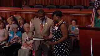 Senator James Sanders Jr. honors his 2014 Woman of Distinction
