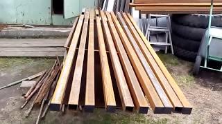 Подготовка столбов под бетон, забор из профлиста ,столбы из профильной трубы для забора.