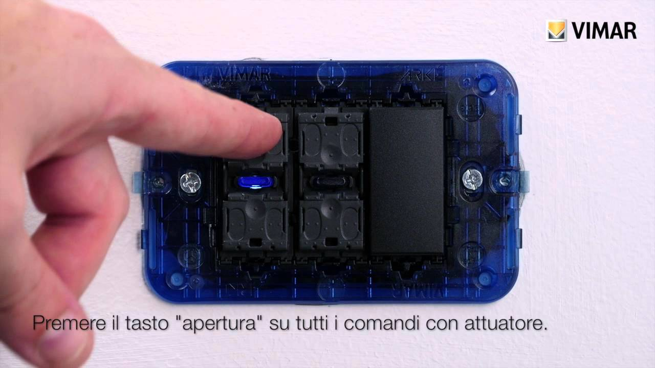 Schema Elettrico Per Tapparelle : Configurazione di un kit tapparelle by vimar youtube