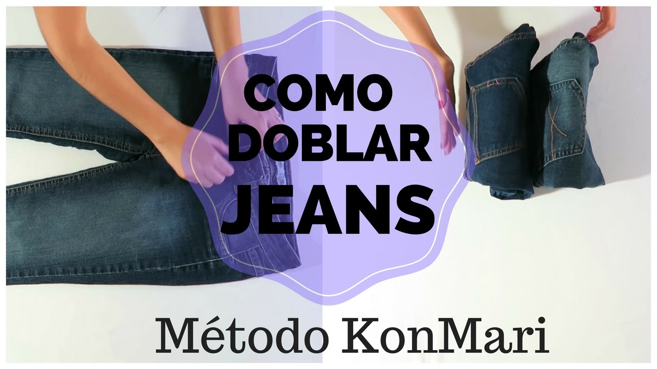 como doblar jeans vaqueros pantalones m todo konmari marie kondo youtube. Black Bedroom Furniture Sets. Home Design Ideas