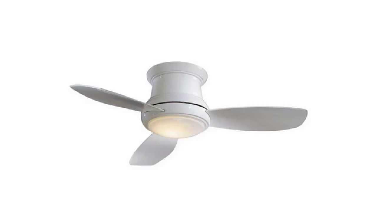 Minka Aire F518 WH 44 inch Concept II Flush Mount Ceiling Fan