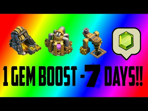 clash of clans- 1 gem collector boost 7days! Today event