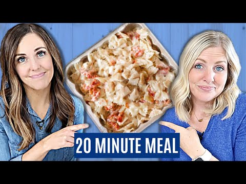 The BEST Creamy Chicken Tuscan Pasta Recipe - Easy Freezer Meal - 20 Minute Meal