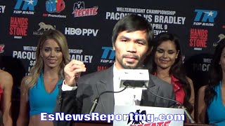 """PACQUIAO'S EMOTIONAL SPEECH: RECALLS HUMBLE START """"SLEPT IN STREET, NO FOOD"""" WANTS 2 INSPIRE OTHERS"""