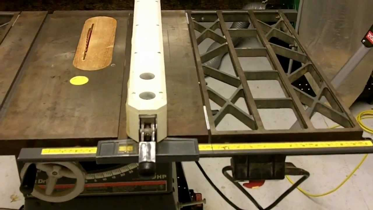 Contractor table saw modifications youtube greentooth Image collections