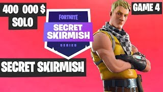 Fortnite Secret Skirmish SOLO Game 4 Highlights [Day 2] Fortnite Tournament 2019