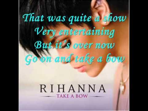 Rihanna - Take A Bow (Lyrics On Screen)
