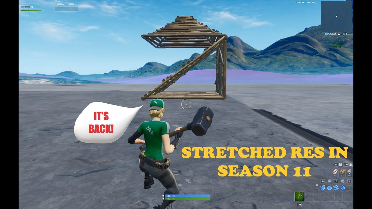 Patched 1120 Easiest Way To Use Stretched Res In Fortnite Season 11pc Stretched Resolution