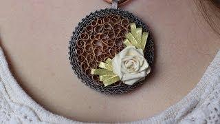 Quilled metallic jewelry - Bijoux métallique en quilling - Joyería de metal enrollado de papel
