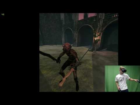Virtual Reality Sword Fighting | GrowpoVR
