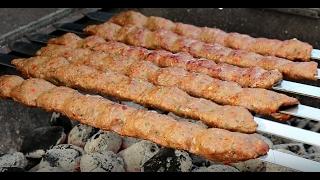 Adana Kebab / Turkish Ground Beef and Lamb Kabob -  kabab