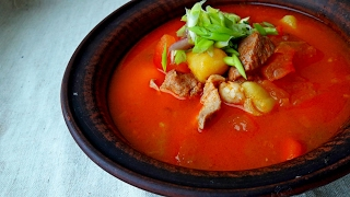 Суп. Простой Вкусный Рецепт. Суп-Гуляш. Венгерский Суп Гуляш.