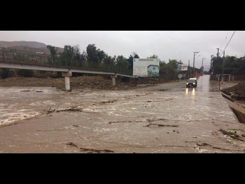 Cobertura especial de Ahora Noticias por lluvias en zona centronorte de Chile