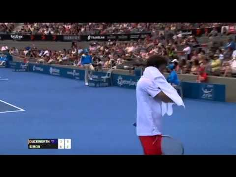 James Duckworth v Gilles Simon - Men's Singles Rd 2: Brisbane International 2012
