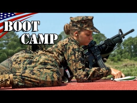 Female Recruits M16A4 Rifle Marksmanship Training: USMC Boot