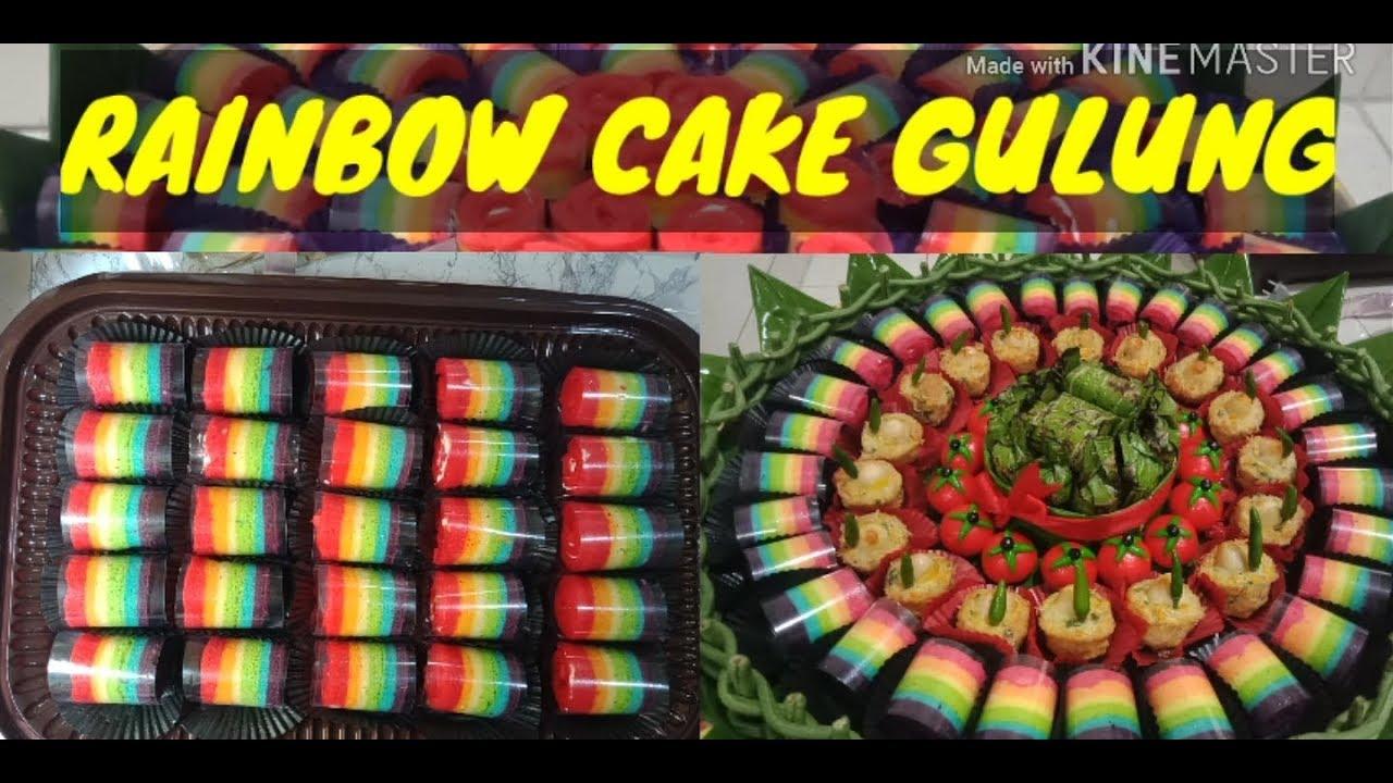 BOLU GULUNG MINI RAINBOW - RAINBOW CAKE #DapurJajanCirebon ...