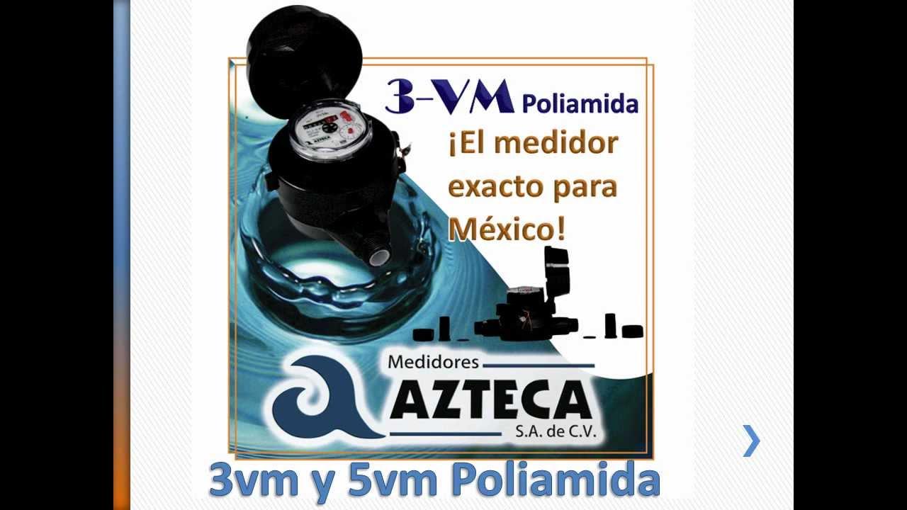 Medidores para agua medidores azteca youtube - Medidor de agua ...