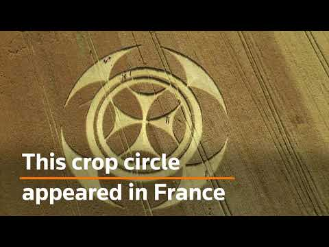 Mysterious crop circle appears in France