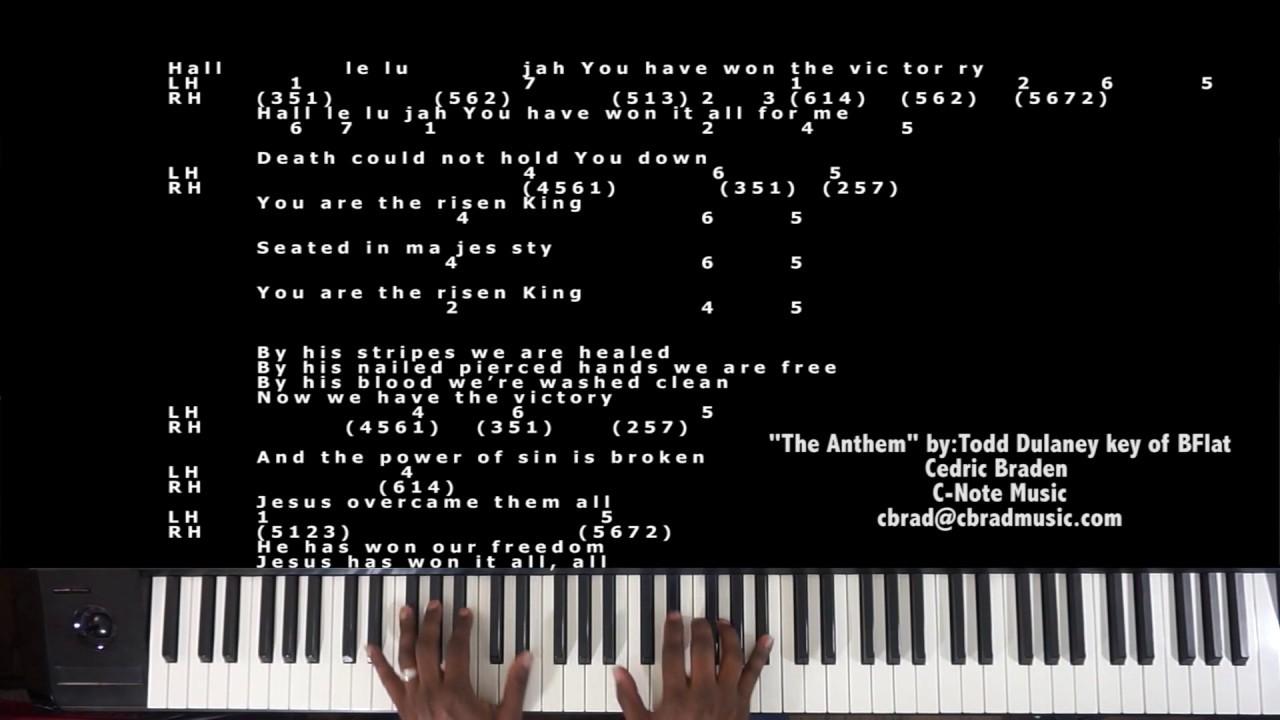 The anthem bytodd dulaney piano tutorial youtube the anthem bytodd dulaney piano tutorial hexwebz Choice Image