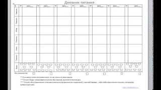 Как заполнять дневник питания. http://okaybeauty.ru/
