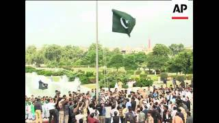 Flag raising, changing of the guard on independence day