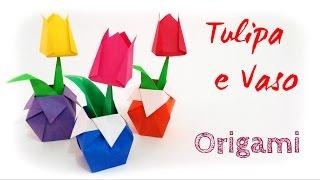 Origami Tulipa e Vaso