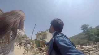Live Nepal Earthquake 12th May  in Nuwakot while I was eating Lunch
