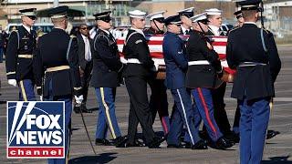 George H.W. Bush's casket departs Joint Base Andrews