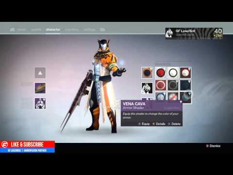 Destiny Vena Cava Armor Shader Unlocked - Eris Morn Quest Rewards Kings Fall Raid
