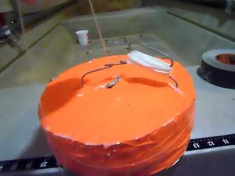 Homemade flashing fishing jug noodle youtube for How to make fishing noodles