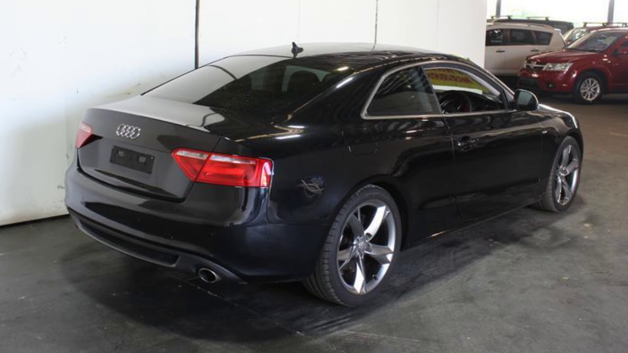 2008 audi a5 8t 3 2 fsi s line black 8 speed cvt multitronic coupe youtube. Black Bedroom Furniture Sets. Home Design Ideas