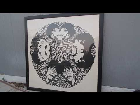 ORIGINAL RARE PSYCHEDELIC 1967 ART POSTER OF THE BEATLES