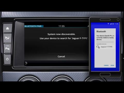 Jaguar F-TYPE 2018 | InControl Touch Pro Bluetooth Phone Pairing